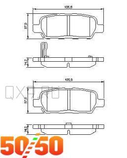 #30 Пластины противоскрипные задние D4080-JA01A — Nissan ... | 320x258