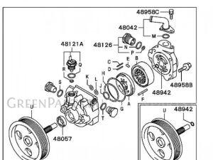 Насос гур на Mitsubishi Pajero MR418566