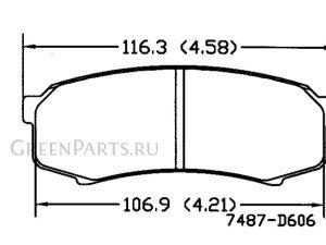 Тормозные колодки на Toyota Land Cruiser Prado GRJ151W 1GR-FE