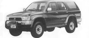 TOYOTA HILUX SURF 1992 г.