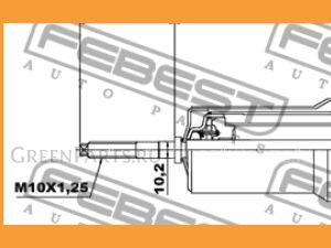 Амортизатор на Mitsubishi Montero V63W, V64W, V65W, V66W, V67W, V68W, V73W, V74W, V7