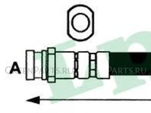 Шланг тормозной на Toyota Avensis